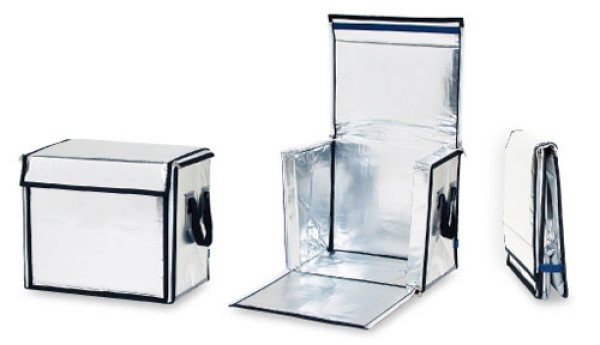 画像1: 保冷輸送容器 ネオカルター Aタイプ (天面・正面ファスナータイプ) A-3 (450×350×450mm, 70リットル) イノアック (1)