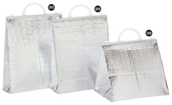 画像1: 保冷袋 ミナクールパック 手提げ角底袋 小 CH10 (310×390+125mm) 酒井科学工業 1ケース100枚入り (1)