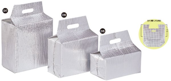 画像1: 保冷袋 ミナクールパック 箱型袋 Mサイズ CH6 (225×170+125+190mm) 酒井科学工業 1ケース50枚入り (1)