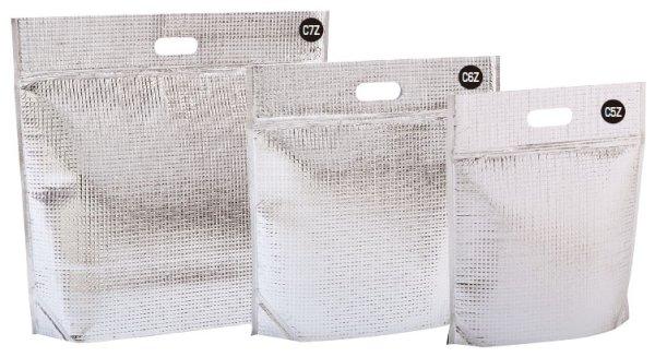 画像1: 保冷袋 ミナクールパック ジップ付き角底折込袋 Sサイズ C5Z (260×305+70mm) 酒井科学工業 1ケース50枚入り (1)