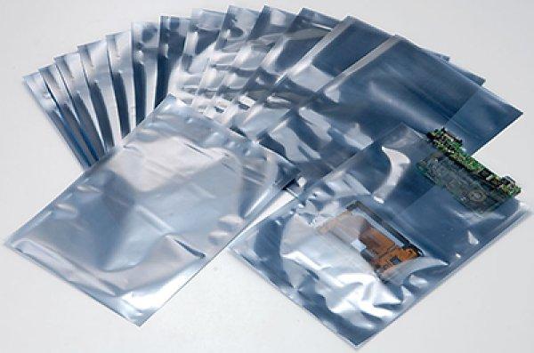 画像1: 静電気対策製品 電気部品用 静電気シールド袋(EL-ES) エレウォール ES-40 (0.07×274×366mm) 1ケース1,000枚入り (1)